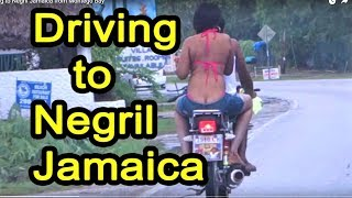 Driving to Negril Jamaica from Montego Bay