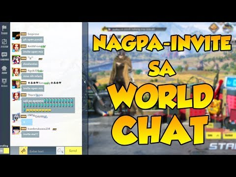 NAGPA-INVITE AKO SA WORLD CHAT!  | (Rules of Survival: Battle Royale #33)
