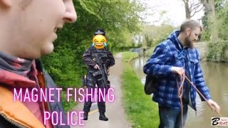 Police &  magnet fishing