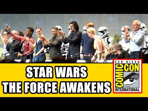 Star Wars The Force Awakens Comic Con Panel - Carrie Fisher, Harrison Ford, Mark Hamill