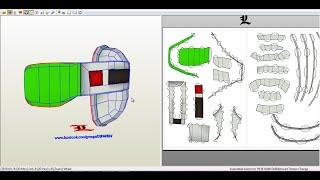 Descargar platillas de SCOUTER de dragon ball z para papercraft.(Tamaño real)(Life size)