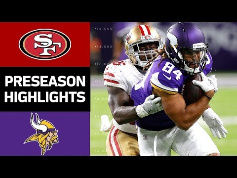 49ers vs. Vikings | NFL Preseason Week 3 Game Highlights