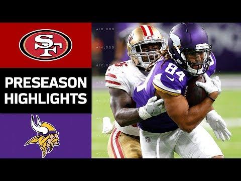 49ers vs. Vikings | NFL Preseason Week 3 Game Highlights