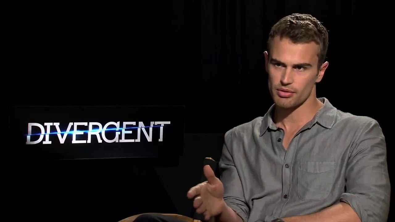 """Theo James aka Four Interview for """"Divergent"""" - YouTube"""