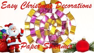Easy Christmas Decoretions Paper Streamer At Home | Soumens Origami & Crafrs