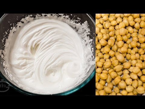 Make Whipped Cream from Chickpeas - Only 2 Ingredients | Aquafaba - Eggless Recipes Series