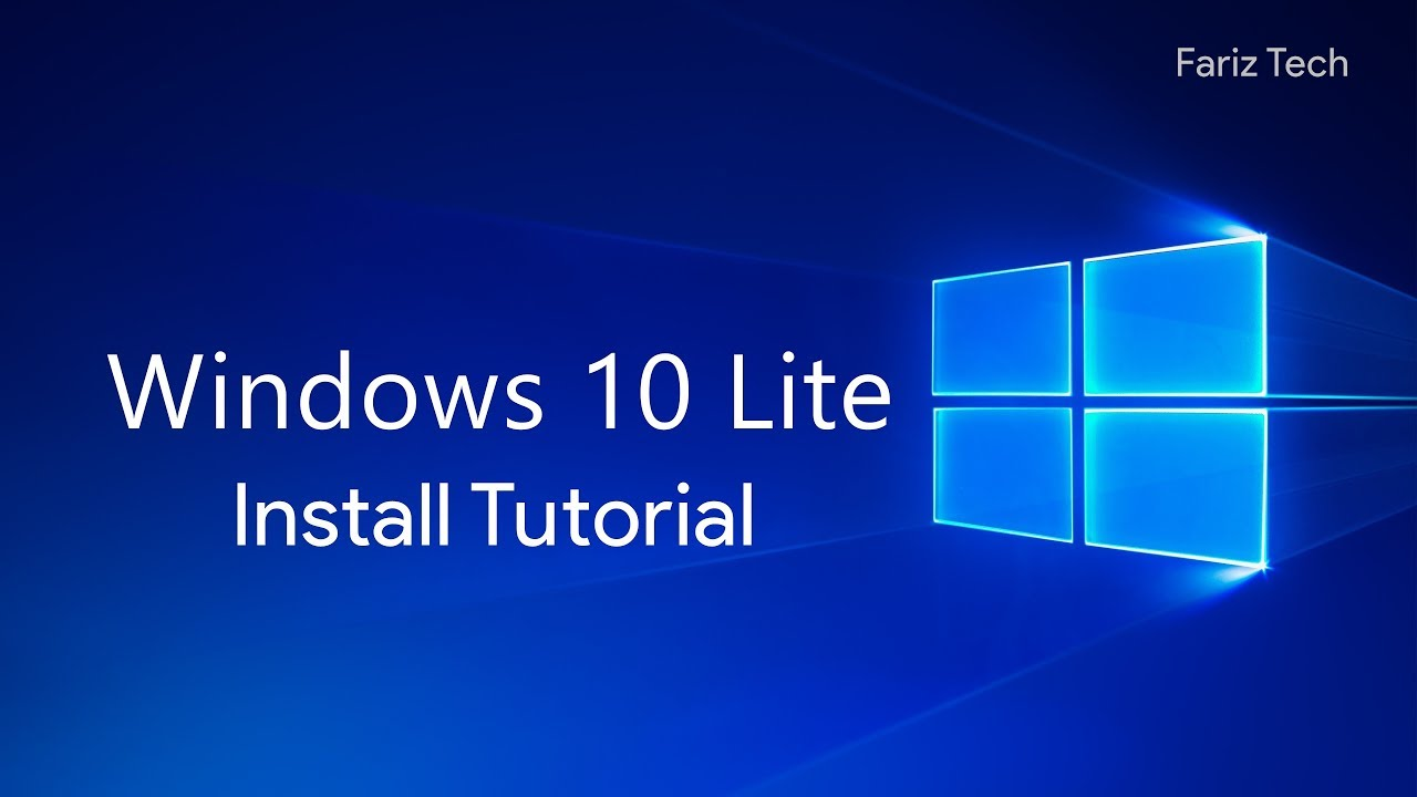 Windows 10 Lite Install Tutorial!!!