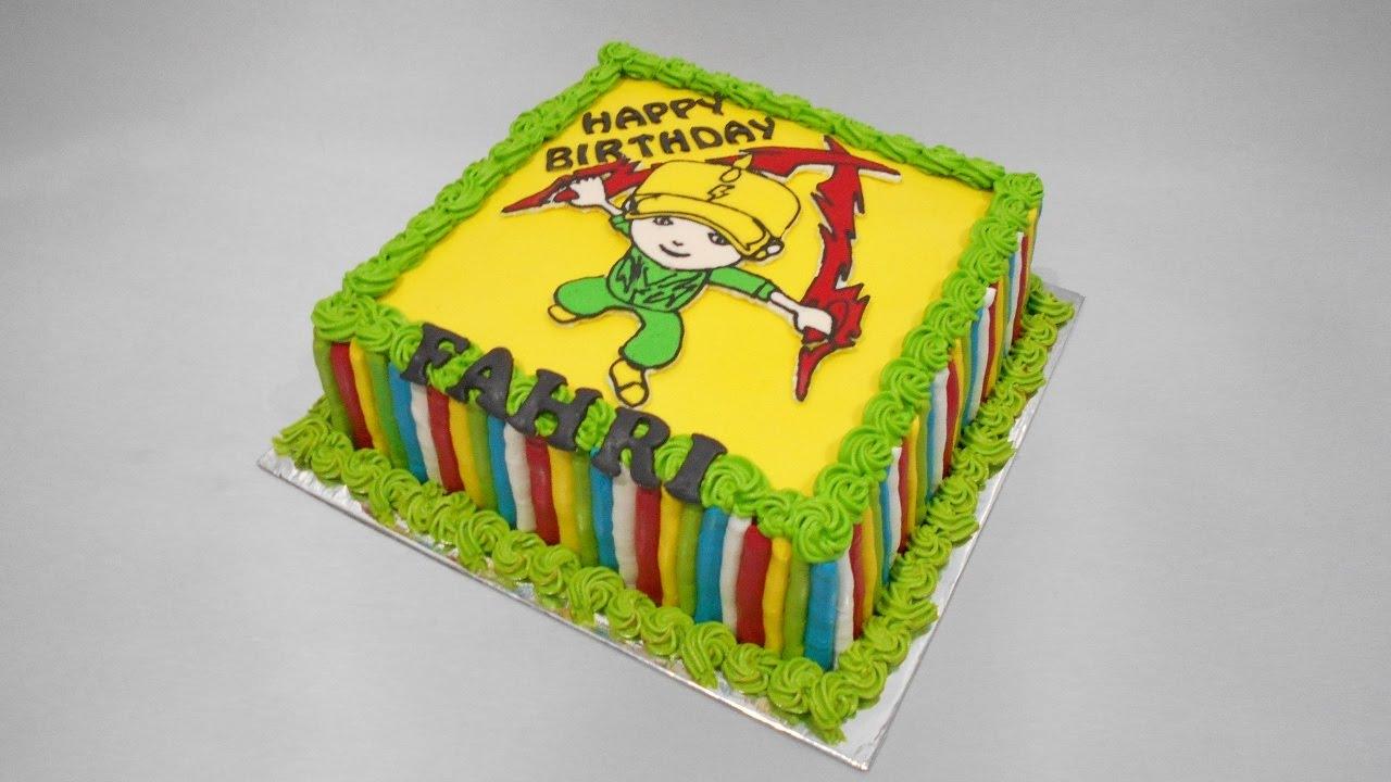 Boboiboy Birthday Cake Easy