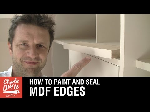 How to Seal and Paint MDF Edges - Video #2