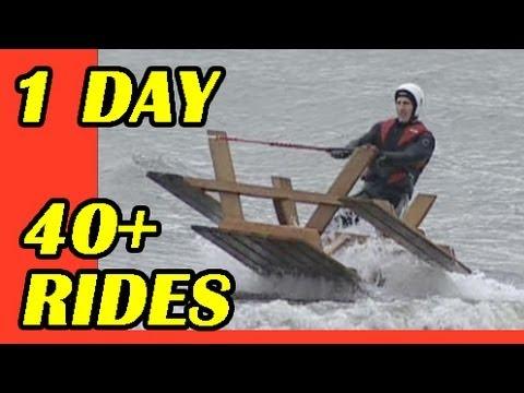 1 Day All Around Water Skiing Stunt. World's Best Pro Tricks. 40-40-400