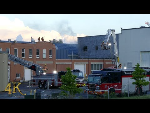 Montreal: Fire in toxic container turns into hazmat at industrial building 8-12-2017