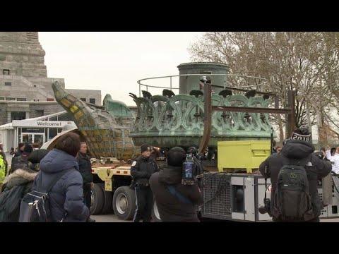 afpes: Antorcha original de Estatua de la Libertad estará en museo