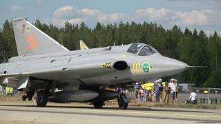 saab j 35 draken ramp in engine cut the finnish air force 100th anniversary airshow swafhf
