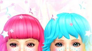 Sims 4:  Toddler CAS  - Little Twin Stars ⭐