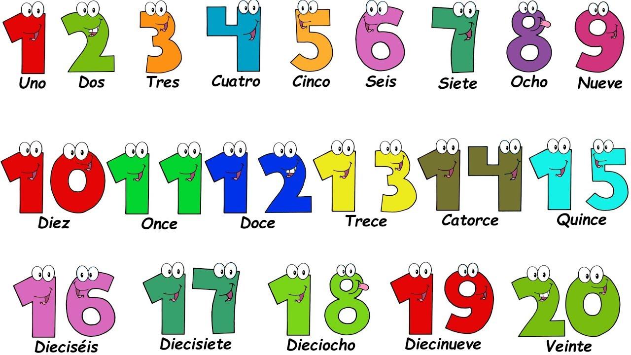 Spanish Lesson - NUMBERS 1-20 - Los Números del 1 al 20 - Compter ...