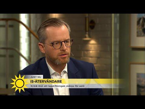 Inrikesminister Mikael Damberg – Så ska Sverige hantera IS-återvändare - Nyhetsmorgon (TV4)