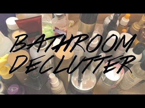 MAJOR BATHROOM DECLUTTER 2018 | Beauty Spring Cleaning!