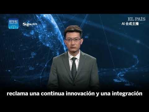 Presentador de noticias con inteligencia artificial
