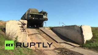 russia topol m and bm 30 smerch vehicles hit steep hills in astrakhan drills