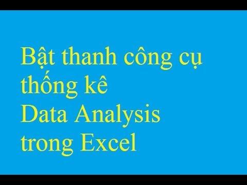 Bật thanh công cụ thống kê Data Analysis trong Excel – Taimienphi.vn