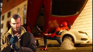 Spider-Man Arresting GTA IV Niko Bellic Full Mission - Marvel's Spider-Man (Insomniac VideoGame)