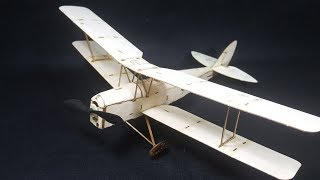 How to Assembling RC Tiger Moth Biplane - Balsa Wood Airplane thumbnail
