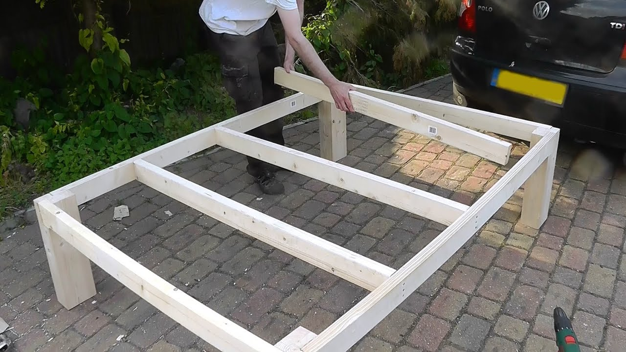 heavy duty diy bed youtube - Wooden Bed Frame Plans