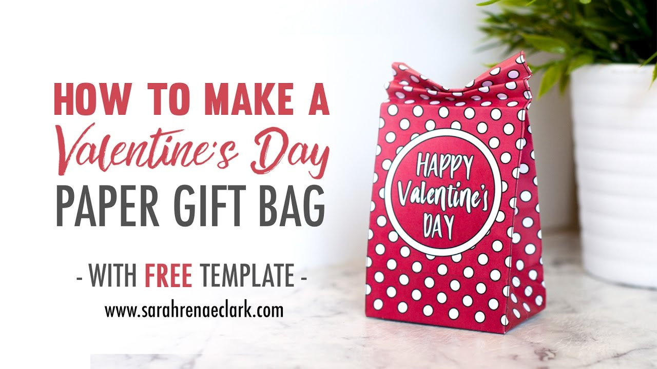 Craft Tutorial How To Make A Valentine S Day Paper Gift Bag Free