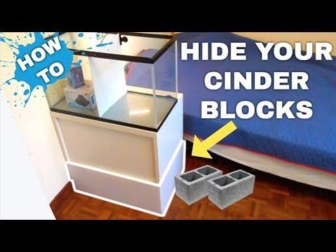 HOW TO: COVER YOUR CINDER BLOCK AQUARIUM STAND