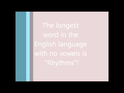#4 (Longest word with no vowels) Random Facts Of The Day.