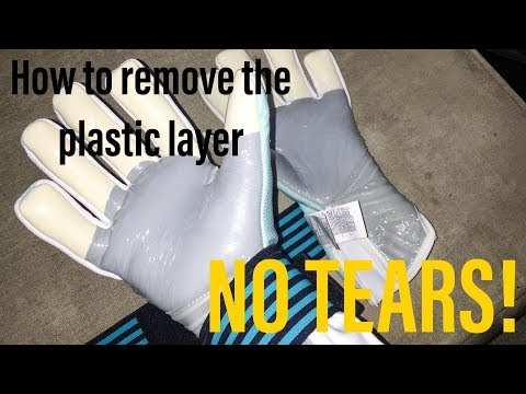 How To Remove The Plastic Layer From Your Goalkeeper Gloves (WITHOUT TEARING LATEX)