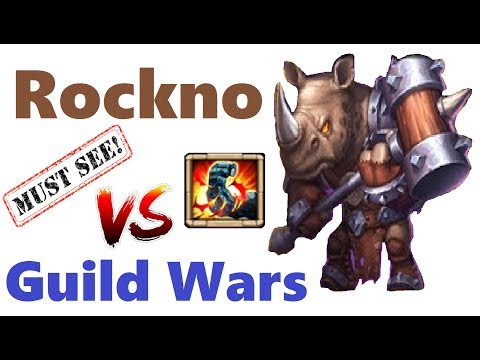 MUST SEE Maxed Rockno Rocking Guild Wars! Gameplay + Best Talent Castle Clash