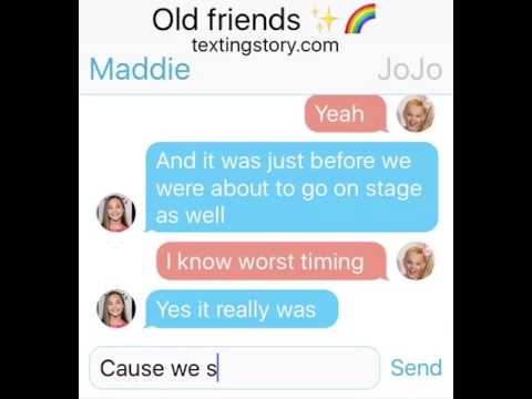 Maddie Ziegler & JoJo Siwa Text (Read Description)