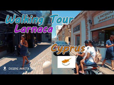 Cyprus Trip 2019 | Walking Tour Larnaca | Exploring The City Center