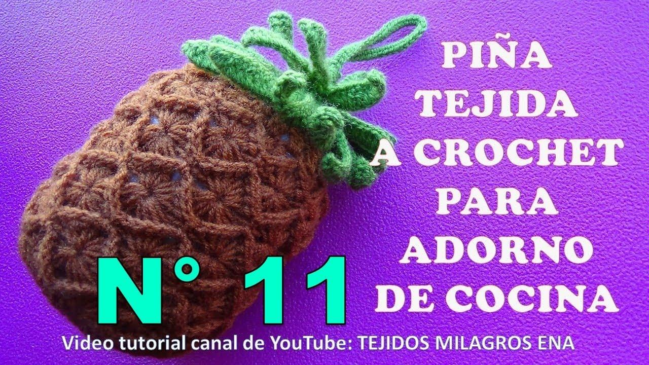 Como tejer una pi a a crochet paso a paso manualidades - Manualidades faciles para vender paso a paso ...