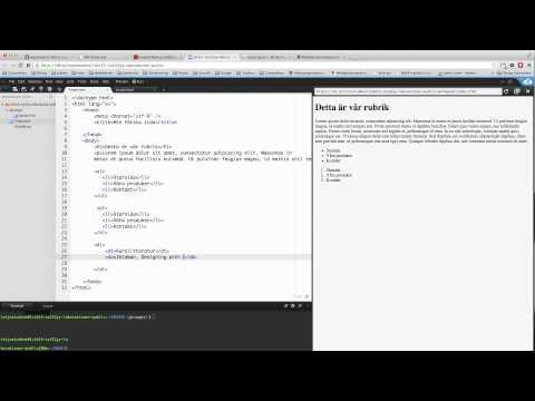 Demo - HTML - Listor
