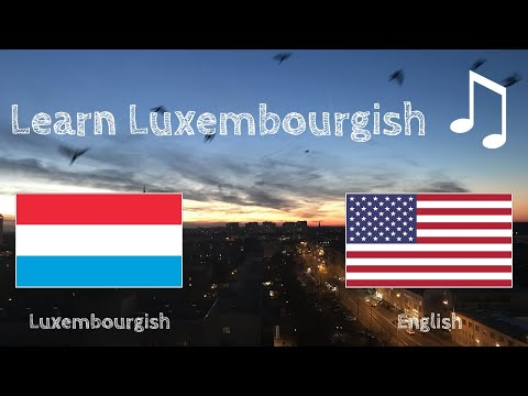 Learn before Sleeping - Luxembourgish (native speaker)  - with music