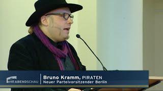 RBB Abendschau - @PiratenBerlin wählen Bruno Kramm als Vorsitzenden und errichten SMV