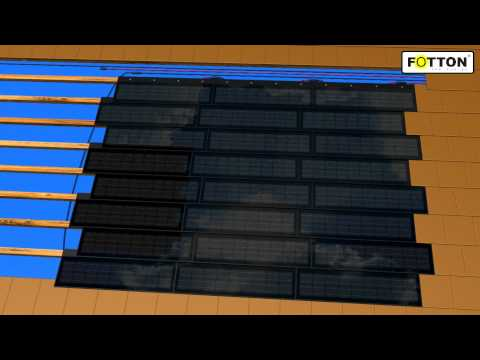 Solar tile FOTTON FTDS52 - solar roof tiles - home PV systems