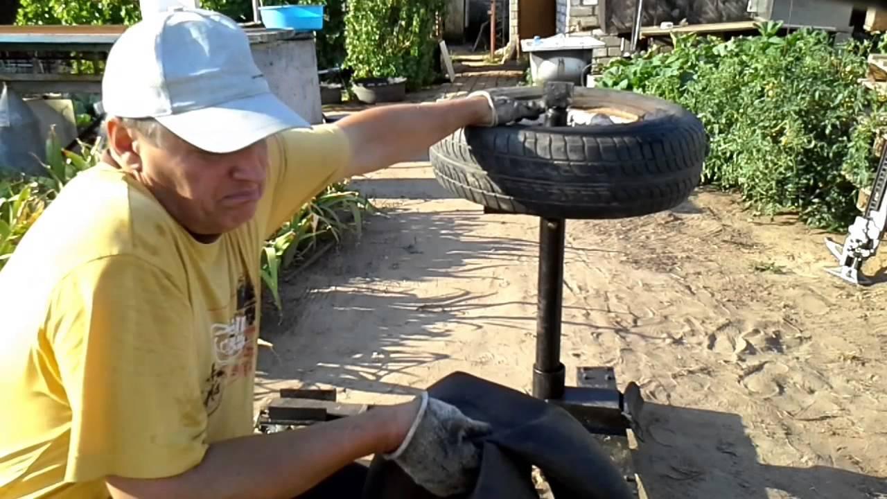 Самодельный шиномонтажный станок своими руками видео фото 37