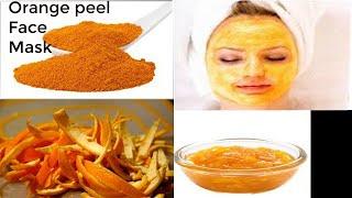 Orange peel face mask Orange peel face mask for acne and whitening Orange peel face mask in winter