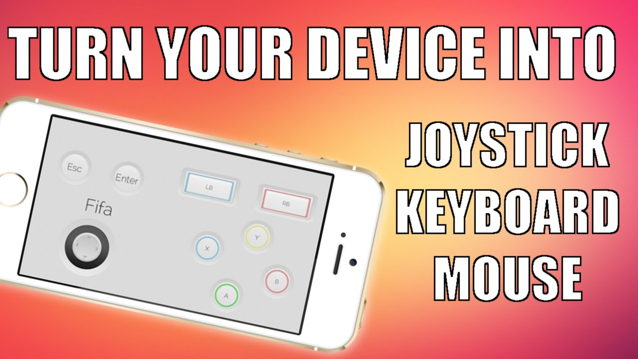 How to use iphone/ipod/android/windows phone as a remote mouse.