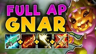 WTF IS THIS DAMAGE??? SECRET OP FULL AP GNAR! NEW FULL AP GNAR TOP SEASON 7! - League of Legends