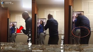 MALU TREVEJO DAD GRABS HER BUTT 🍑 & FLIRTS WITH HER!!! 😻…