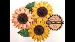 Bridgit's Quilling Sunflowers in 3D optic