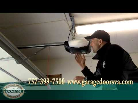 Replace Old Garage Door Opener With New Dc Motor Belt Drive Youtube
