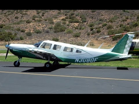 Flight in Piper PA-32-300 Cherokee Six N308DF at Agua Dulce Airport 2014