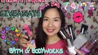 First Ever Giveaway Tarte Wet And Wild Bath And Body Works And More
