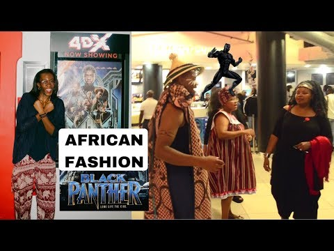 African Fashion at BLACK PANTHER Premiere South Africa