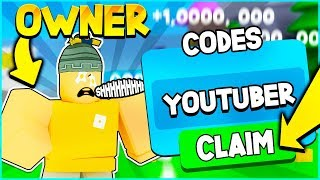 OWNER GAVE ME SECRET YOUTUBER CODES IN UNBOXING SIMULATOR! Roblox